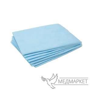 Салфетка 40*40 одноразовые в сложении (голуб.) оптом